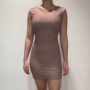 Forever 21 Brown/Tan Mini Dress